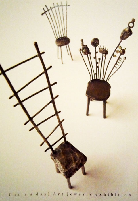 chair a day art jewelry exhibition liisa hashimoto art